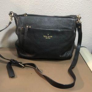 Kate Spade Pebbled Black Leather Shoulder Crossbody Bag Purse Soft  EUC